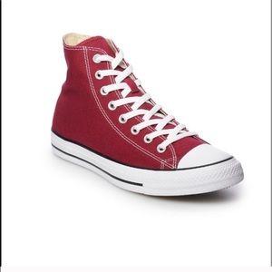 Unisex Maroon Converse Hightop Sneakers
